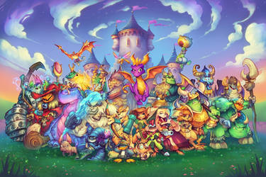 Spyro Reignited Trilogy - Promo Poster by RobDuenas