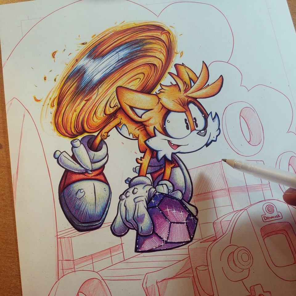 Tails Commish WIP 02 by RobDuenas