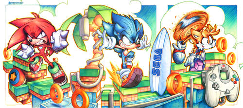 Sonic Beach Commish by RobDuenas