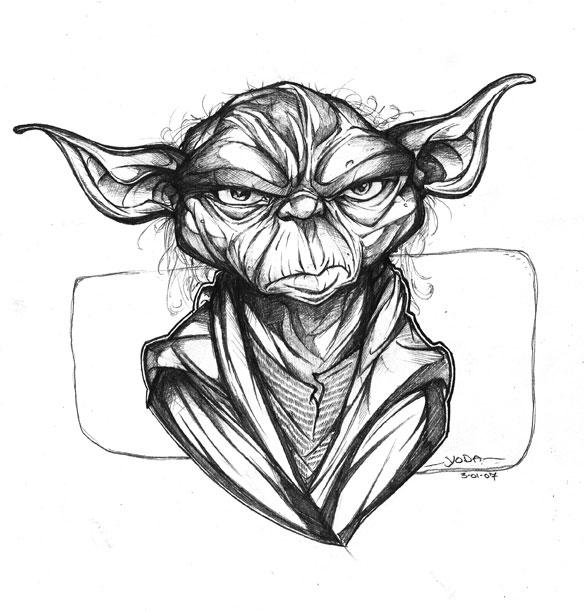 Line Drawing Yoda : Yoda sketch by robduenas on deviantart