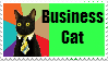 Business Cat Stamp by seven11ART