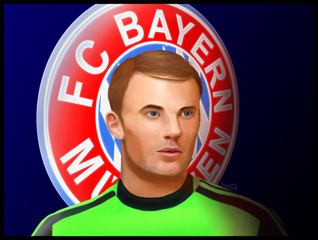 Manuel Neuer by seven11ART