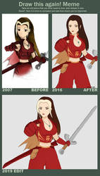 [Meme: Bampire's Before and After] Tournament Girl by SonicSNAKE