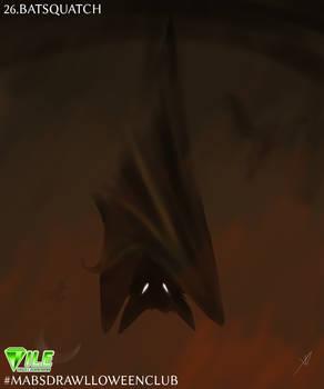 Batsquatch - Inktober2020 #MABSDRAWLLOWEENCLUB