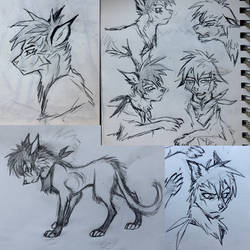 traditional sketch page