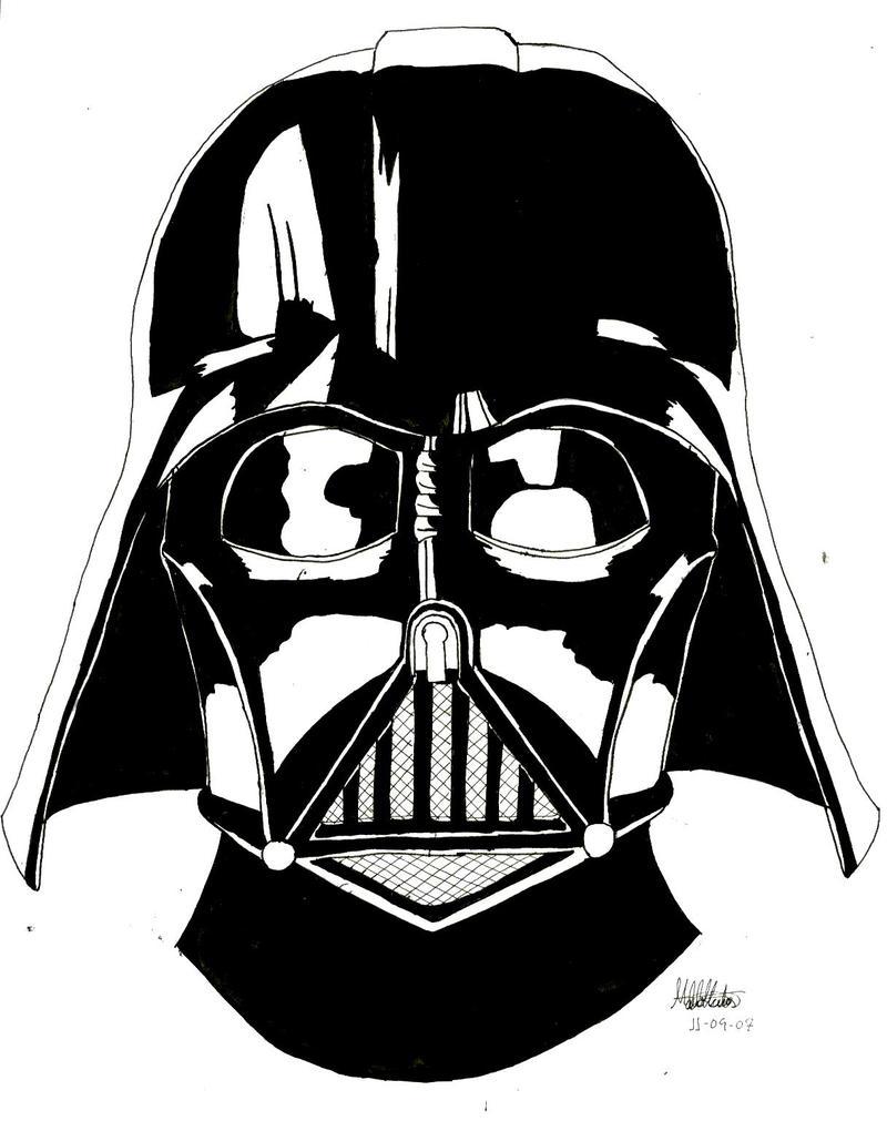Darth Vader Mask Drawing Darth Vader by