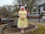 Fluttershy by the Fountain 2