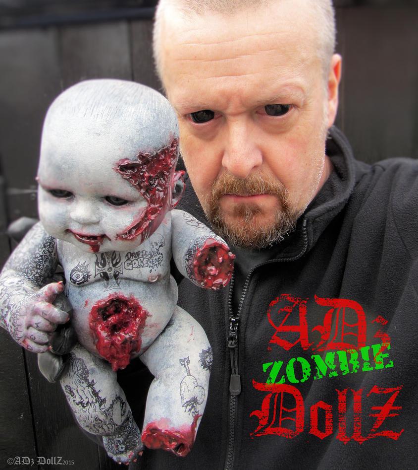 Koochi EW! Custom zombie infant doll OOAK by ADzArt