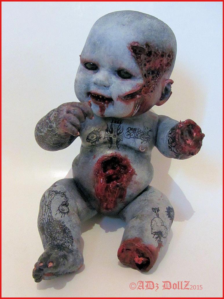 Koochi EW! Zombie infant tattoo gore doll by ADzArt