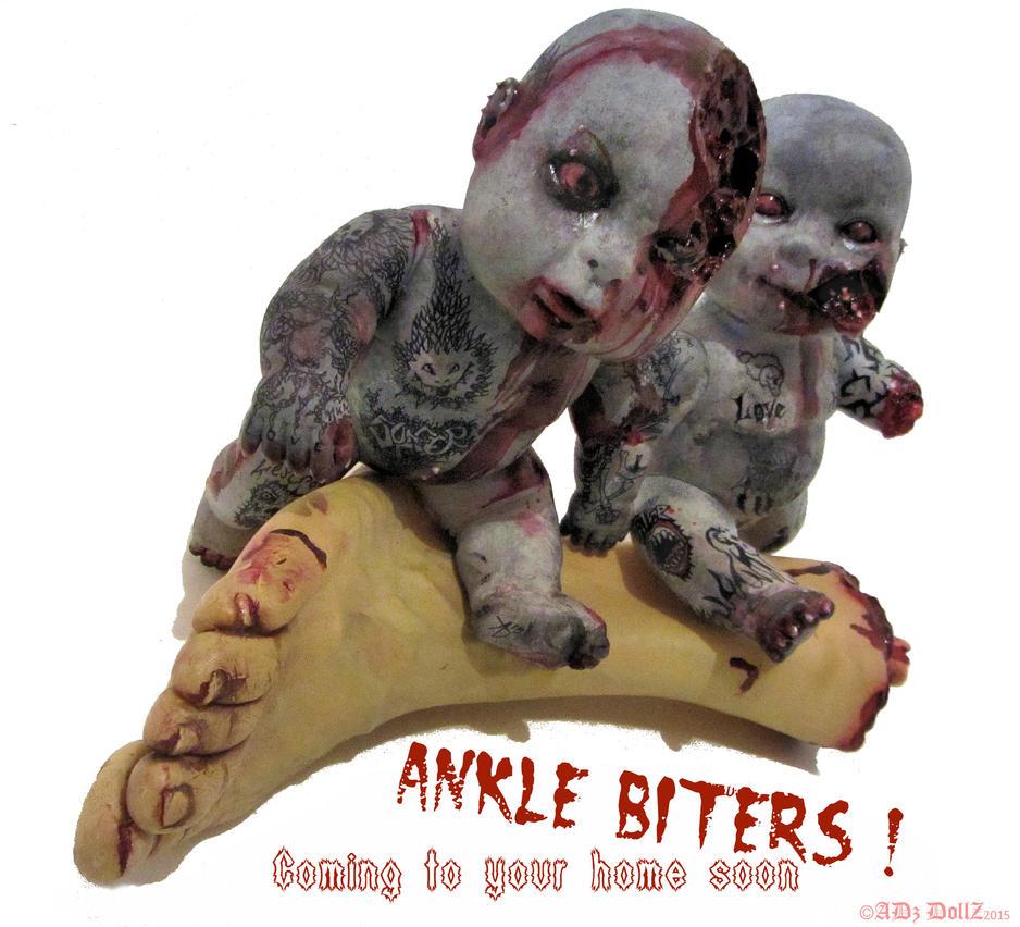 Ankle Biters - custom zombie infant dolls by ADzArt