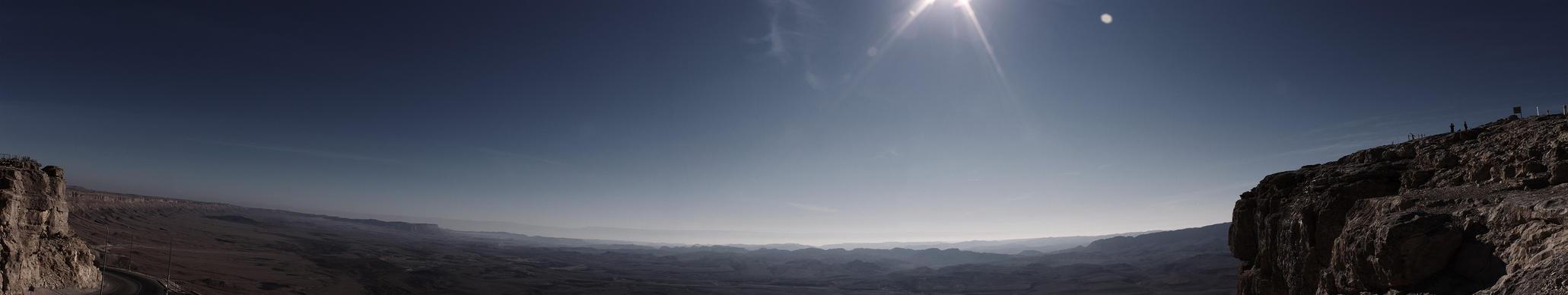 Ramon Crater Panorama by PaulEnsane