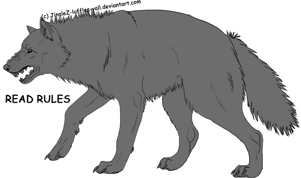 Realistic Drawings Of Wolves Growling Wolf Growling Lineart by