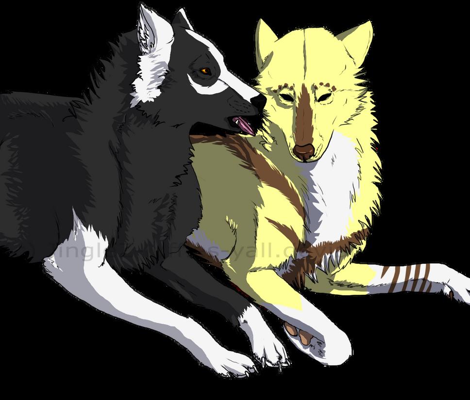 Feya-san Commission-Feya and Wolven by FenneAdaekhol
