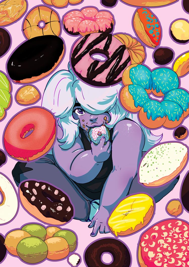 amethyst+donuts by riotbreaker