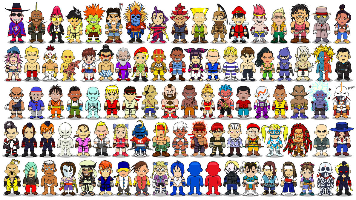 Ranks In Marine >> Street Fighter Wallpaper (All Characters) by BRIGAZ on DeviantArt