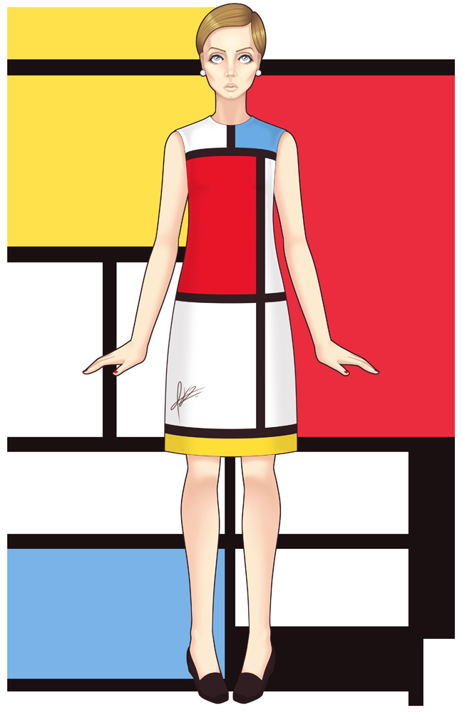 Mondrian Dress by pinkx2