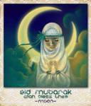 Eid Moon by moonhmz