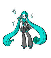 Moon's Hatsune Miku by moonhmz