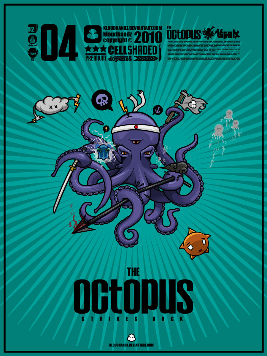 Vector Octopus by Kloudhandz