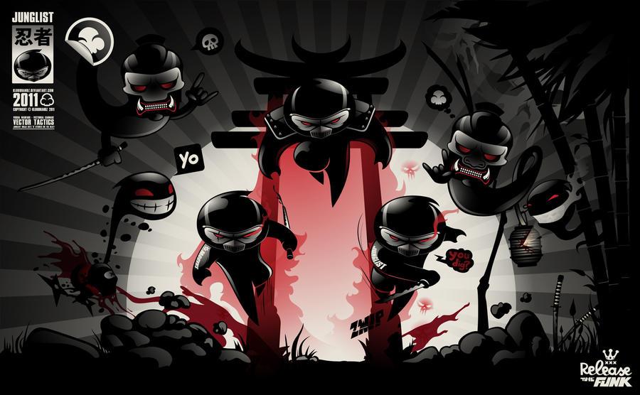 Junglist Ninjas by Kloudhandz