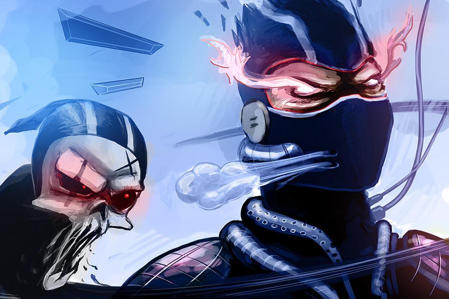 ninja, look.. by Kloudhandz