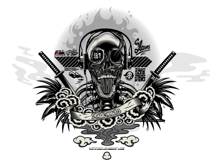 Human Vector Skull by Kloudhandz