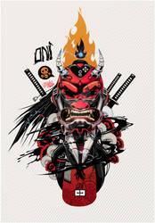 PSY-ONI RED-800px by Kloudhandz