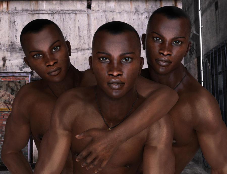 black triplets porn