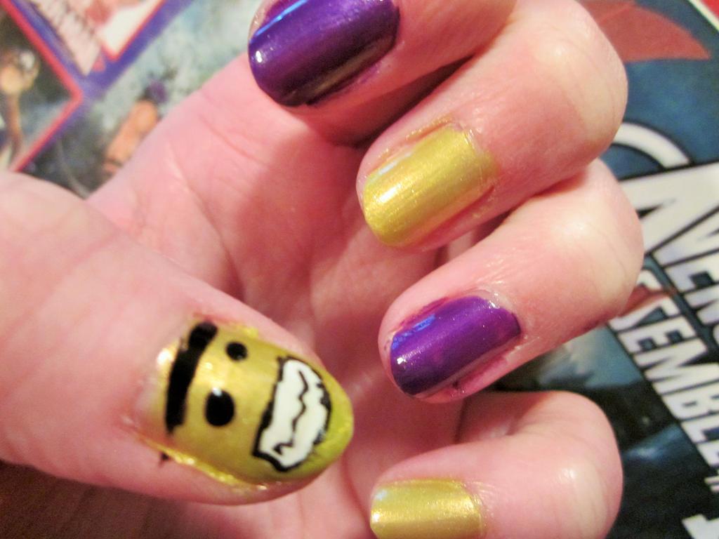 Avengers- Hulk nail art by tay-bear