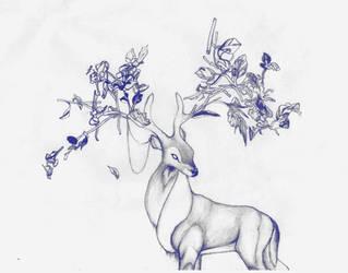 Prongs (pencil sketch) by beware-thejabberwock