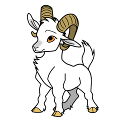 Cute Goat - Simple Color