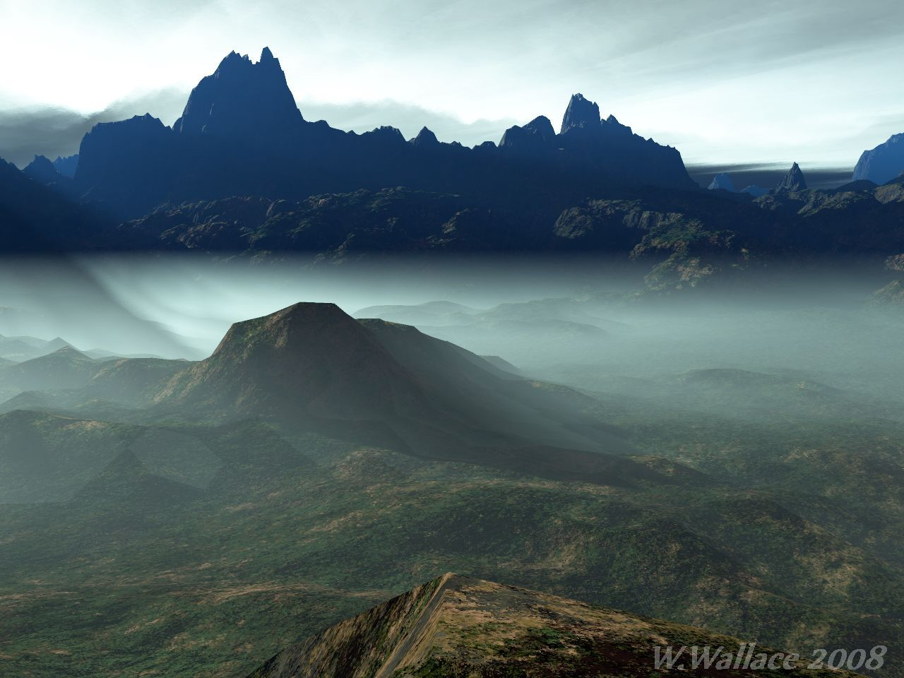 Mountain Fog by Jellaboom