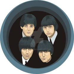 Beatles, retrato en vector