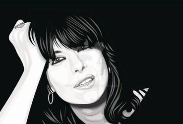 Chrissie Hynde Retrato vector