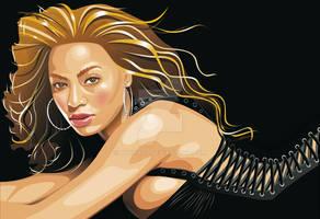 Beyonce Knowles Retrato Vector