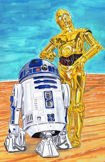 R2-D2 and C-3PO by TonyMiello