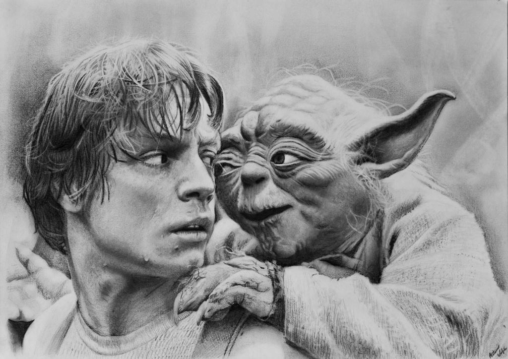 Yoda and Luke by Tonyssimo
