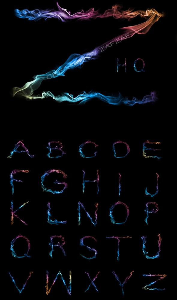Smoke Alphabet