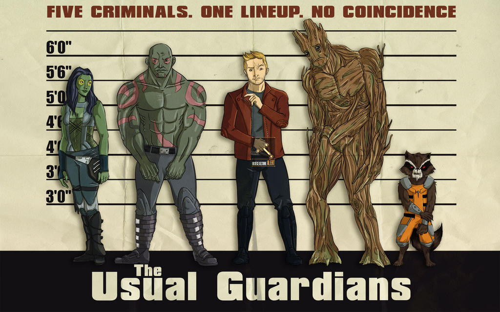 Marvel goes to hollywood: Guardians of the galaxy by Guolfo