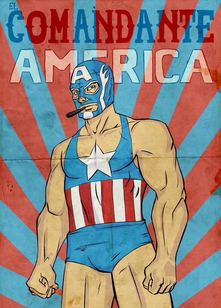 Marvel Lucha Libre: El Comandante America by Guolfo on ...