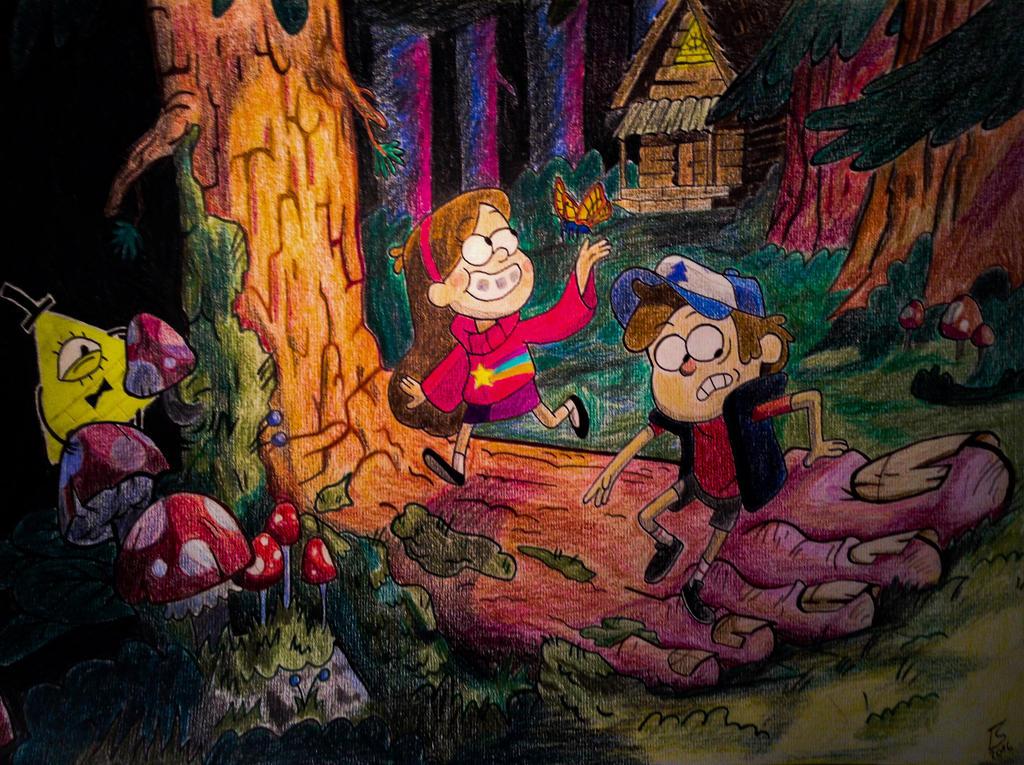 Gravity Falls Forest by LennoxFM
