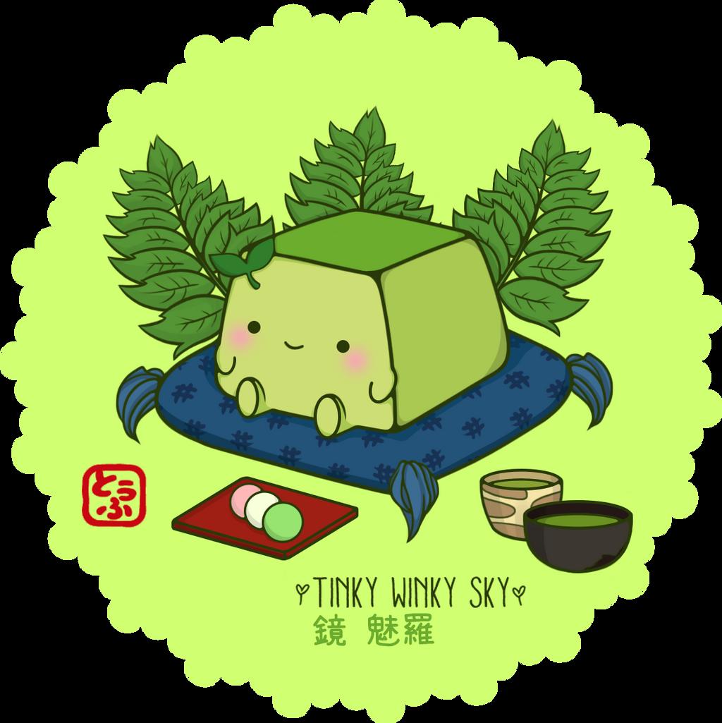 Hannari Green Tea Tofu by TinkyWinkySky