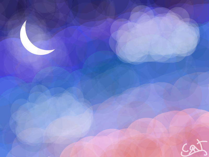 Nightfall sky by CassChanArts