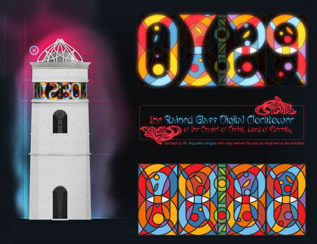 Stained-Glass Clock Tower