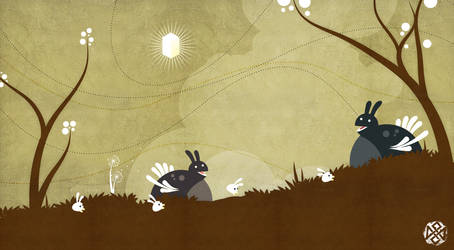 Bunny Turkey Pasture Fun