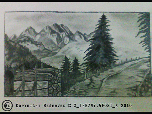 Drawing Mountain View By Xxthb7ny 5fo8ixx On Deviantart