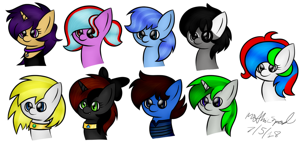 Drawing/SAI] A Group of Pones by MythicSpeed on DeviantArt