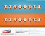 Web button design concept  for medepage.com