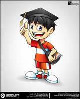 Cahaya Bandung Mascot Design by hoodaya
