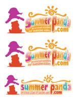Summer Panda Logo Concept by hoodaya